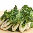 Baby Bok Choy on a Bamboo Tray — Stock Photo