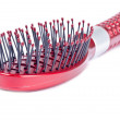 Red Hair Brush - Stock Photo