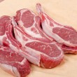 Raw Lamb Chops on Paper — Stock Photo
