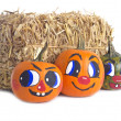 Decorative Pumpkins with Smiling Faces — Stock Photo