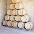 Stack of Wine Barrels — Stok fotoğraf