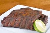 Caribbean Barbecued Ribs — Stock Photo