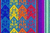 彩色棉表布纹理或背景 — 图库照片