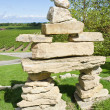 Stock Photo: Inuit Inuksuk Standing in Vineyard