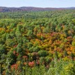 Stock Photo: View of Fall Colors from Lookout Trail in Algonquin Park.