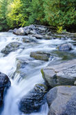 River Flowing Over Rocks — Stock Photo