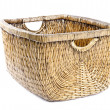 Foto Stock: Wicker Basket Isolted on White