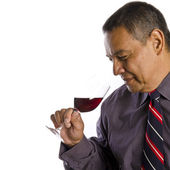 Hispanic Wine Taster — Stock Photo