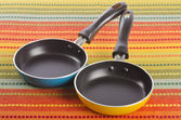 Two Small Frying Pans — Stock Photo