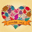 Autumn sale text banner — Stock Vector