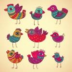 Vector birds set — Stock Vector