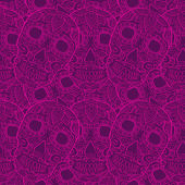 Skulls seamless pattern — Stock Vector