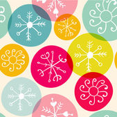 Seamless Christmas snowflake pattern — Stock Vector
