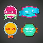 Sale labels set — Stock Vector