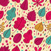 Autumnal leafs seamless pattern — Stock Vector