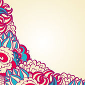 Curl floral abstrait orné — Vecteur