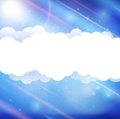 Sky clouds banner — Stock Vector
