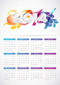Calendar grid template — Stock Vector