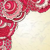 Flower background template — Stock Vector
