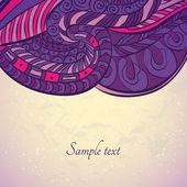 Floral design template card — Stock Vector