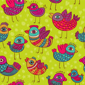 Vector birds seamless pattern — Stock Vector