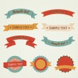 Set of vector labels — Vettoriale Stock #32137541