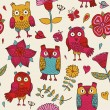 Owls seamless pattern — Stock Vector #32137863