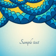 Abstract snake background — Imagen vectorial