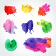 Set of color vector splashes — Stock Vector