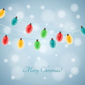 Christmas lights background — Vetor de Stock
