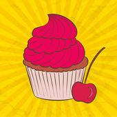 Vector cupcake — Stock Vector