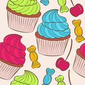 Vettore di cupcakes — Vettoriale Stock