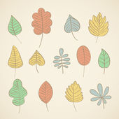 Set of vector leafs — Stock Vector
