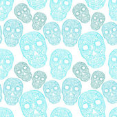 Skulls seamless pattern — Vector de stock