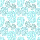 Skulls seamless pattern — Vettoriale Stock