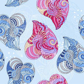 Vector seamless hearts pattern — Stock Vector