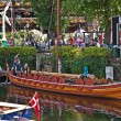 Replica Viking Ship at Denmark House, St Katherine Docks — Stock Photo