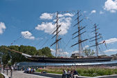 The Cutty Sark the only surving Tea Clipper in the world. — Stock Photo