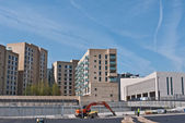 The Olympic Village under construction, London 2012. — Stock Photo