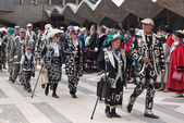 Pearly Kingsand Queens Havest festival, Guildhall London. — Stock Photo