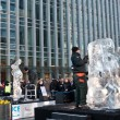 Stock Photo: Ice Sculpting Festival at Canary Wharf London