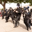 Morris dancers at London's South Bank — Stock Photo