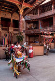 Hobby Horse in Shakespeare's Globe Theatre London. — Stock Photo