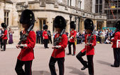 Members of the Welsh Guards at Windsor Castle. — Stock Photo