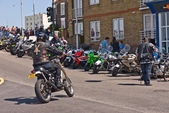 Hundreds of Bikers arrive in Margate for the annual Margate Meltdown event. — Stock Photo