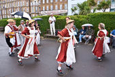 Traditional Morris dancers at Broadstairs Folk Week — Stock Photo