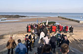 MARGATE,UK-JANUARY 12: Mayors and Dignitaries take part in the Blessing of the Seas ceremony in Margate,lead by Archbishop Gregarios of Thyatreria and Great Britain. January 12, 2014 Margate UK. — Stock Photo