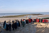 MARGATE,UK-JANUARY 12: Mayors and Dignitaries parade in the annual Blessing of the Seas ceremony in Margate — Stock Photo