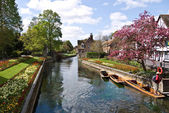 CANTERBURY,UK-APRIL 17: Historic buildings and gardens in  Canterbury  a UNESCO World Heritage site and top visitor destination. April 17, 2014 Canterbury UK — Stock Photo