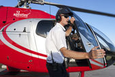 The helicopter pilot — Stock Photo